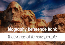Biography Reference Bank landing page