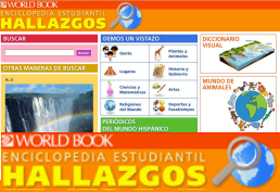 WorldBook Spanish landing page