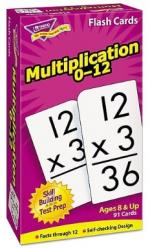 Purple box containing multiplication flash cards.