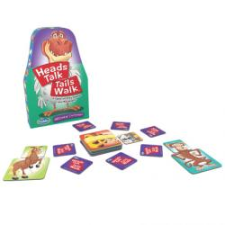 Card game where you match the animal heads and tails.