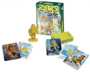 Numbers card game with Greek Gods and a Zeus figurine.